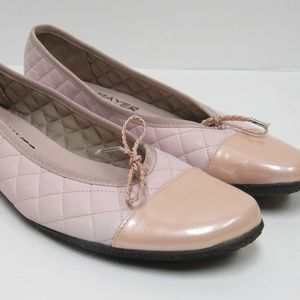Paul Mayer Attitudes Pink Quilted Flats Size 8.5